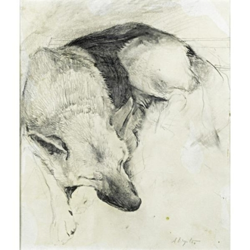 Andrew Wyeth German Shepherd